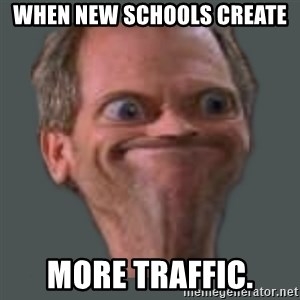 Housella ei suju - When new schools create more traffic.