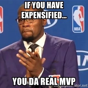 KD you the real mvp f - if you have expensified... you da real mvp