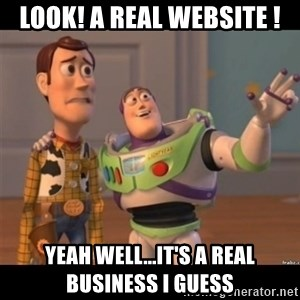 Buzz lightyear meme fixd - Look! A Real Website ! Yeah well...it's a REAL business I guess
