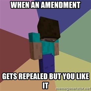 Depressed Minecraft Guy - When an amendment gets repealed but you like it