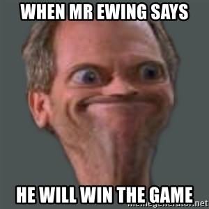 Housella ei suju - when mr ewing says  he will win the game