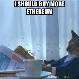 newspaper cat realization - I should buy more ethereum