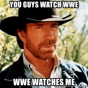 Brutal Chuck Norris - You guys watch WWE wwe watches me