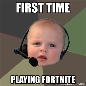 FPS N00b - first time  playing fortnite