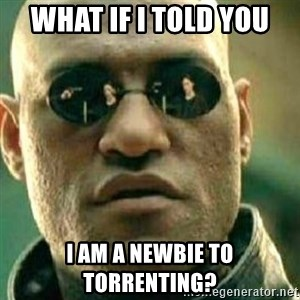 What If I Told You - What if I told you I am a Newbie to Torrenting?