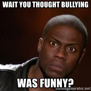 kevin hart nigga - Wait you thought bullying was funny?