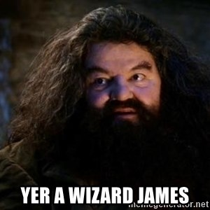 Yer A Wizard Harry Hagrid - Yer a wizard James