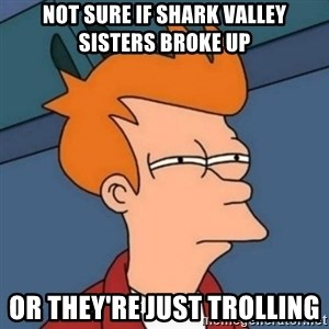 Not sure if troll - Not sure if Shark Valley Sisters broke up or they're just trolling