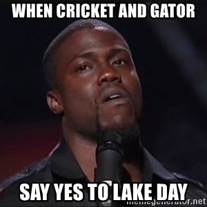 Kevin Hart Face - When cricket and gator Say yes to lake day