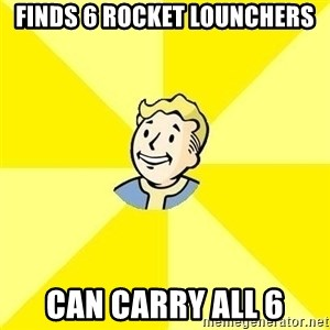 Fallout 3 - finds 6 rocket lounchers can carry all 6