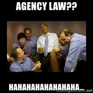 obama laughing  - Agency law?? hahahahahahahaha...