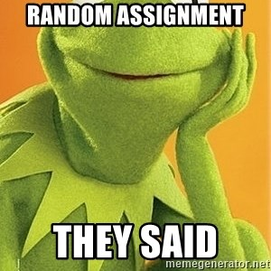 Kermit the frog - Random Assignment  They Said