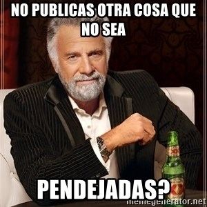 The Most Interesting Man In The World - No publicas otra cosa que no sea  PENDEJADAS?
