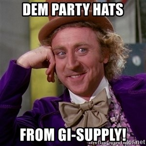 Willy Wonka - dem party hats from GI-Supply!