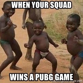african children dancing - When your squad Wins a pubg game