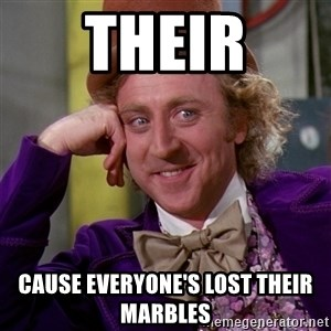 Willy Wonka - Their Cause everyone's lost their marbles