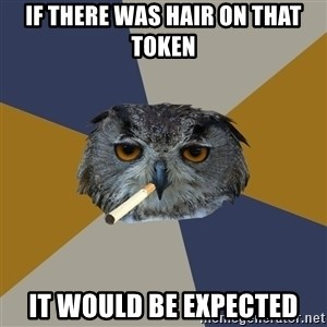Art Student Owl - if there was hair on that token it would be expected