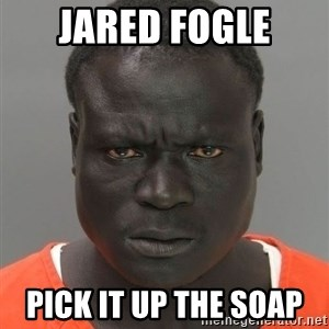 Hard Working Serious Guy - JARED FOGLE PICK IT UP THE SOAP