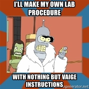 Blackjack and hookers bender - I'll make my own lab procedure With nothing but vaige instructions