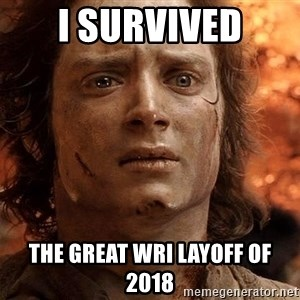 Frodo  - I survived The great WRI layoff of 2018