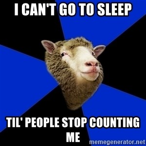 Supernatural Fandom Sheep - I can't go to sleep Til' people stop counting me