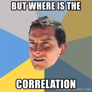 Bear Grylls - but where is the correlation