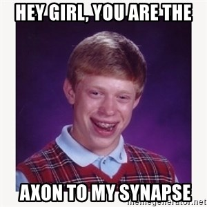 nerdy kid lolz - hey girl, you are the  axon to my synapse
