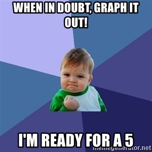 Success Kid - When in doubt, graph it out! I'm ready for a 5