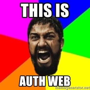 sparta - this is auth web