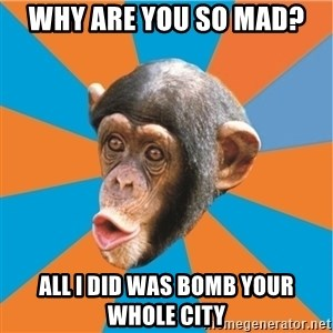 Stupid Monkey - Why are you so mad?  All i did was bomb your whole city