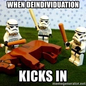 Beating a Dead Horse stormtrooper - When deindividuation kicks in