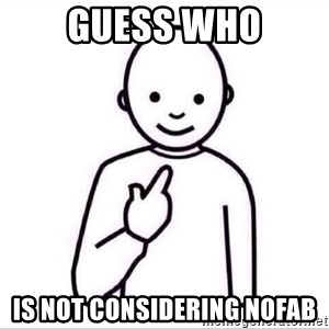 Guess who ? - guess who is not considering nofab
