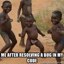 african children dancing - Me after resolving a bug in my code