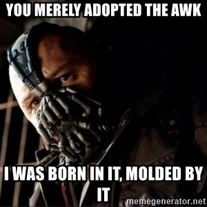 Bane Permission to Die - You merely adopted the awk I was born in it, molded by it