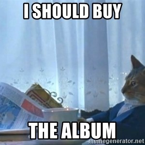 newspaper cat realization - I should buy  The album