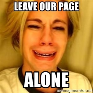 You Leave Jack Burton Alone - Leave our page ALONE