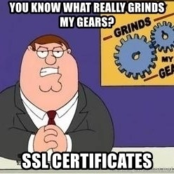 Grinds My Gears Peter Griffin - You know what really grinds my gears? SSL Certificates