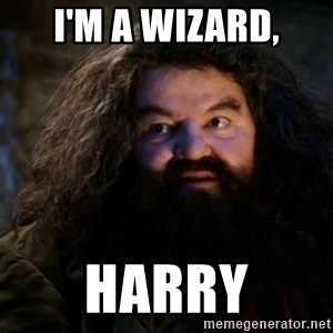Yer A Wizard Harry Hagrid - I'm a wizard, Harry