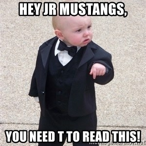 Godfather Baby - Hey Jr Mustangs, You need t to read this!