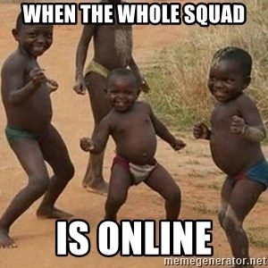 Dancing African Kid - when the whole squad is online