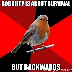 Retail Robin - Sobriety is about survival but Backwards