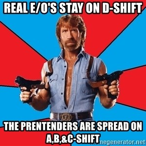 Chuck Norris  - Real E/O's Stay On D-Shift The Prentenders Are Spread On A,B,&C-Shift