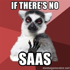 Chill Out Lemur - If there's no SaaS