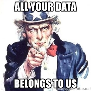 Uncle Sam - All your data belongs to us