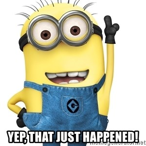 Despicable Me Minion - Yep, that just happened!