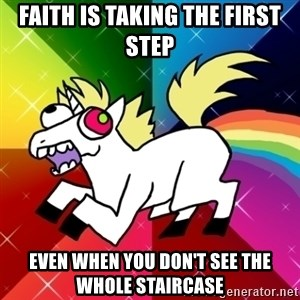 Lovely Derpy RP Unicorn - faith is taking the first step even when you don't see the whole staircase