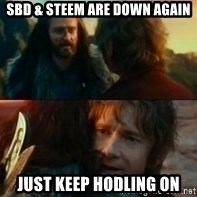 Never Have I Been So Wrong - Sbd & steem are down again just keep hodling on