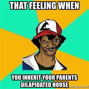 Ash Pedreiro - THat feeling when  you inherit your parents dilapidated house