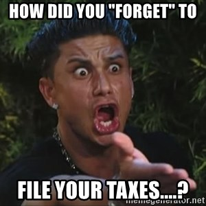 "Pauly D - How did you ""forget"" to  File your taxes....?"