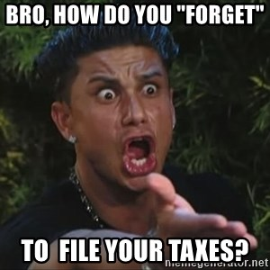 "Pauly D - Bro, How do you ""forget""  To  file your taxes?"